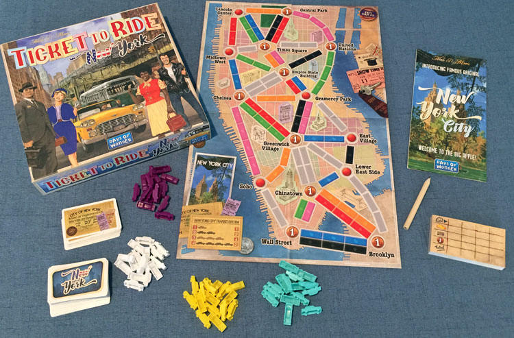 ticket to ride ny unboxing